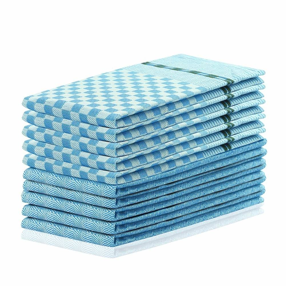DecoKing DecoKing Kuchynská utierka Louie modrá, 50 x 70 cm, sada 10 ks