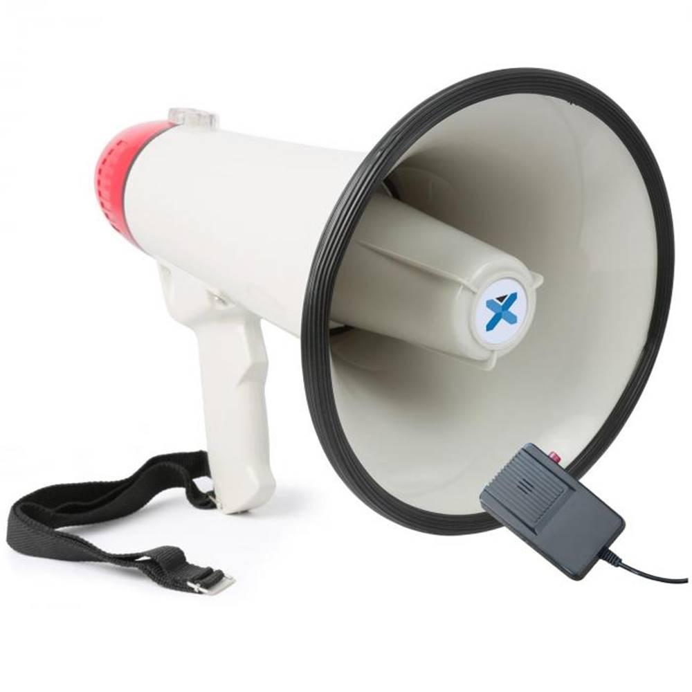 Vexus Vexus MEG040, megafón, 40 W, funkcia nahrávania, siréna, mikrofón, prevádzka na batérie, popruh