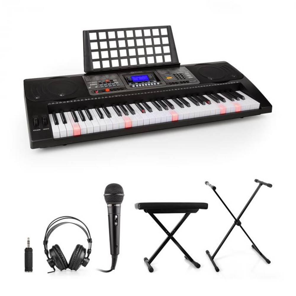 SCHUBERT SCHUBERT Etude 450, nácvičný elektronický klavír, slúchadlá, mikrofón, stojan, stolička, adaptér