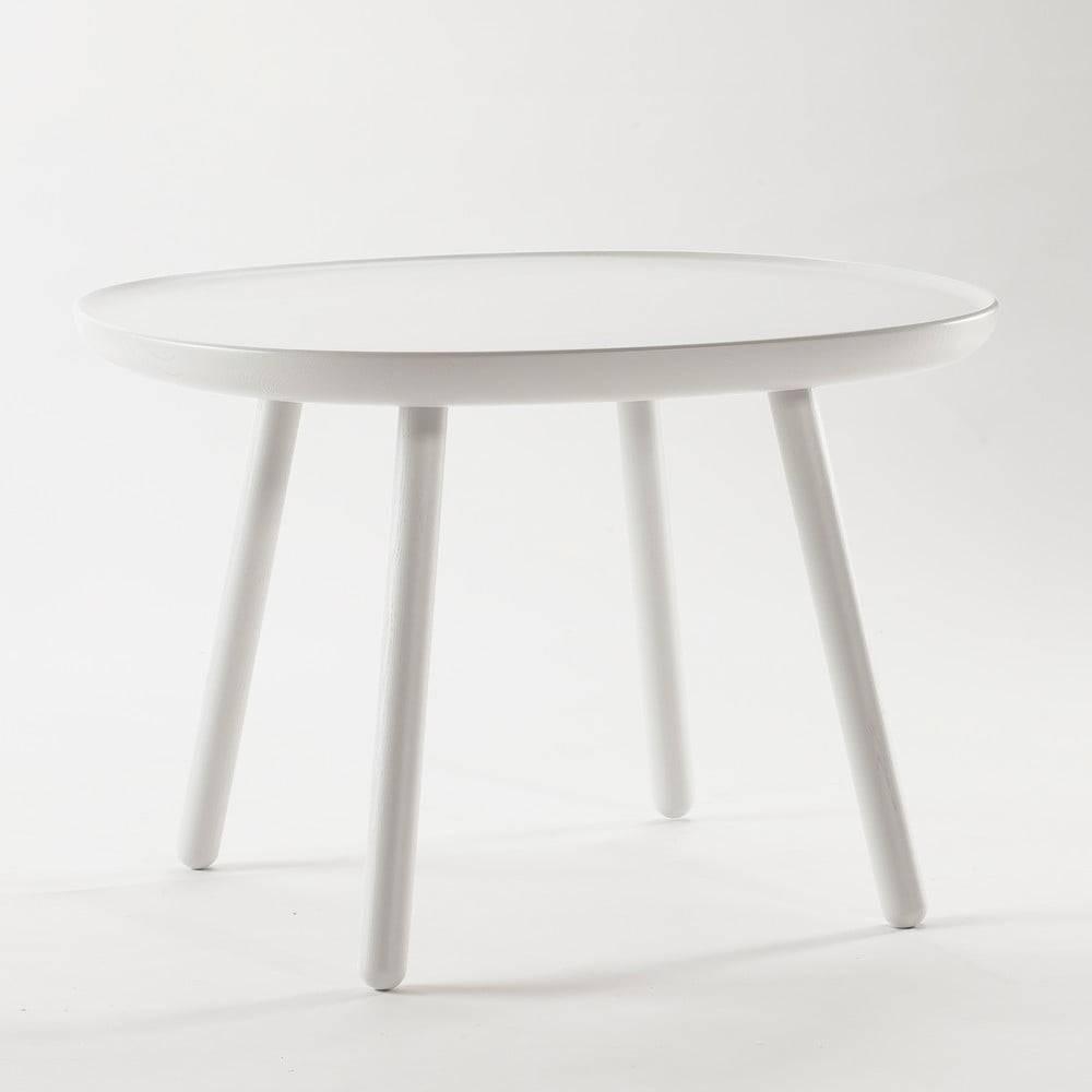 EMKO Biely odkladací stolík z masívu EMKO Naïve Large