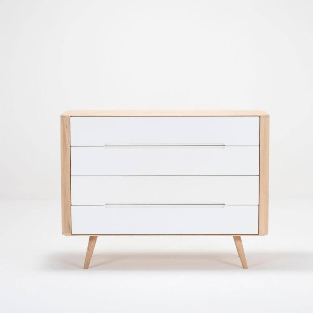 Gazzda Komoda so zásuvkami z dubového dreva Gazzda Ena Two, 120×42×90 cm