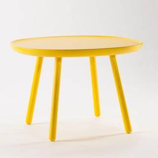 Žltý odkladací stolík z masívu EMKO Naïve Large