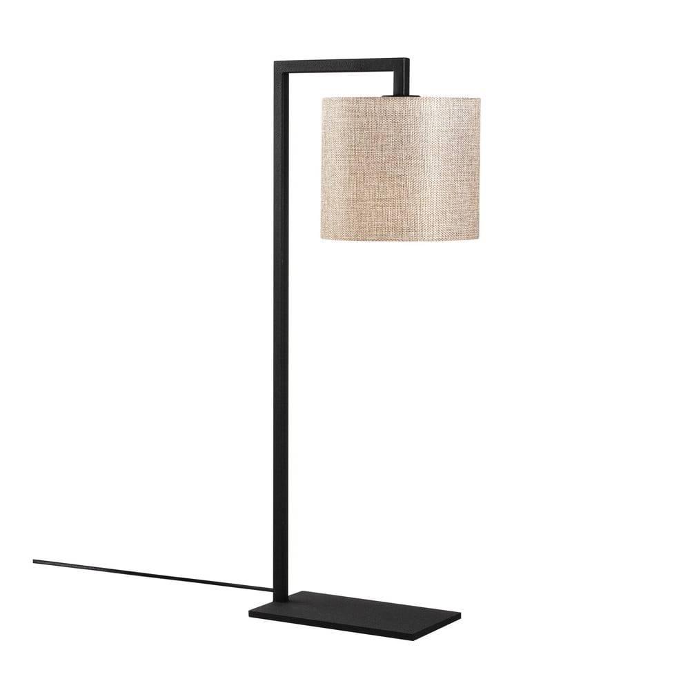 Opviq lights Čierno-béžová stolná lampa Opviq lights Profil