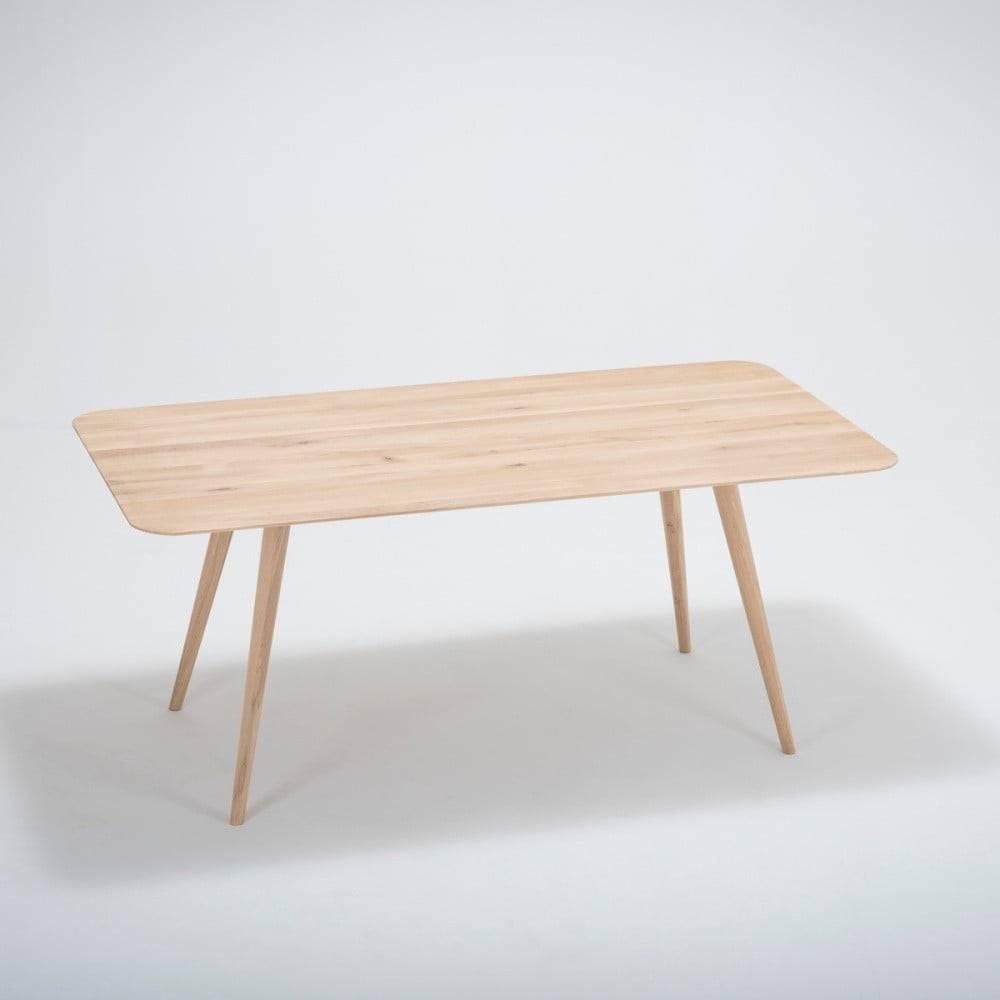Gazzda Jedálenský stôl z masívneho dubového dreva Gazzda Stafa, 180×90cm