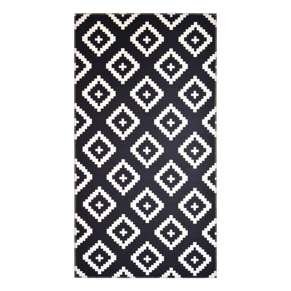 Vitaus Čierno-biely koberec Vitaus Geo Winston, 50×80cm