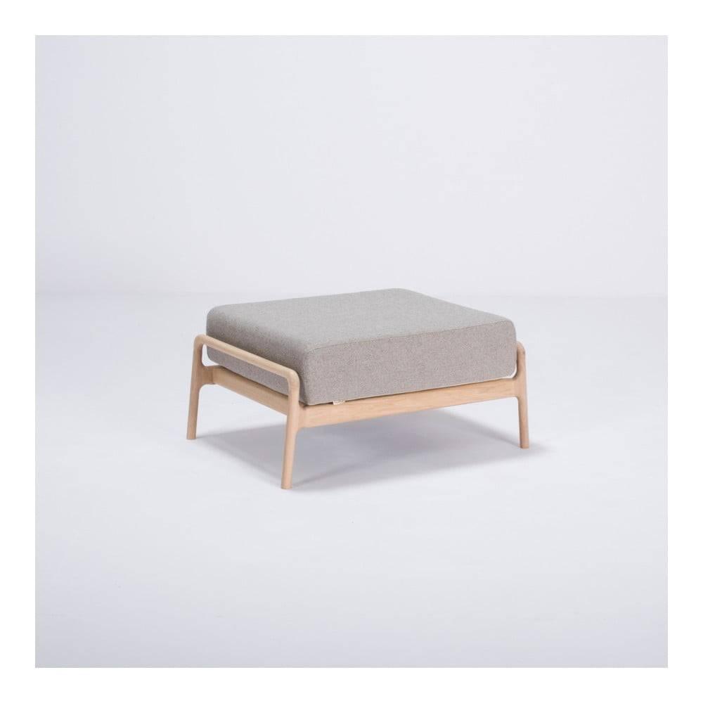 Gazzda Sivá podnožka s konštrukciou z dubového dreva Gazzda Fawn