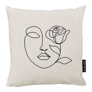 Vankúš Butter Kings z bavlny Rose, 50 x 50 cm