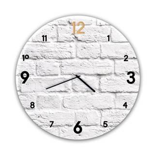 Nástenné hodiny Styler Glassclock Brick, ⌀ 30 cm