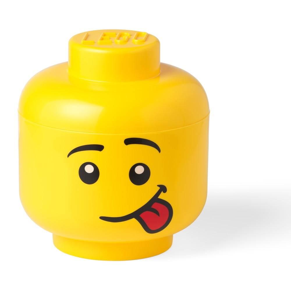 LEGO® Žltý úložný box v tvare LEGO® Silly L