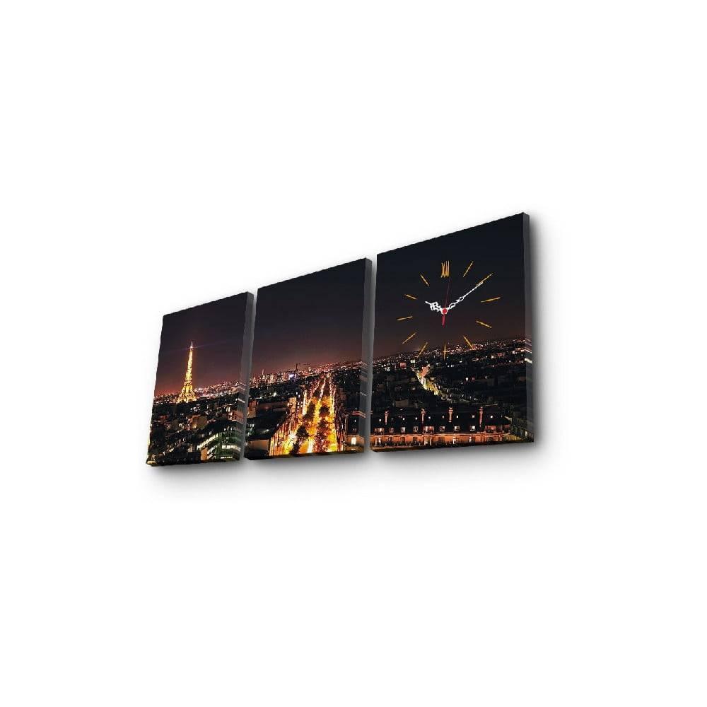 ClockArt Nástenné obrazové hodiny Paríž, 96×40 cm