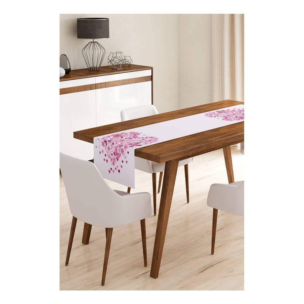 Minimalist Cushion Covers Behúň na stôl z mikrovlákna Minimalist Cushion Covers Heart of Butterflies, 45×145 cm