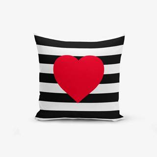 Obliečka na vankúš Minimalist Cushion Covers Navy Heart, 45×45 cm