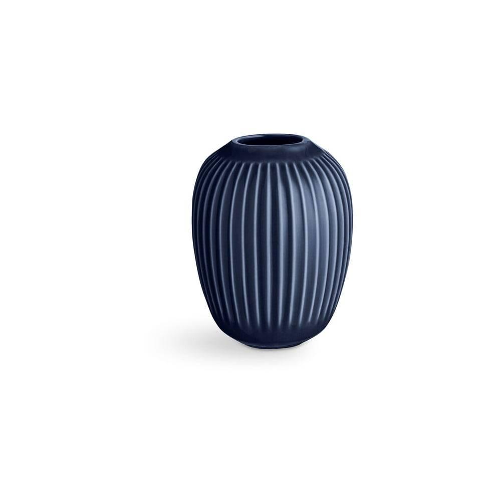 Kähler Design Tmavomodrá kameninová váza Kähler Design Hammershoi, výška 10 cm