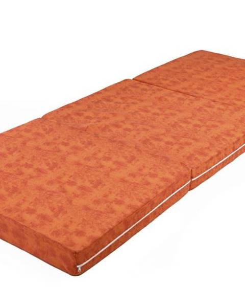 Oranžová posteľ Sconto