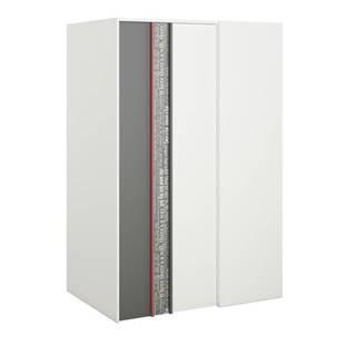 Šatníková skriňa PHILOSOPHY PH-00L biela/grafit/červená