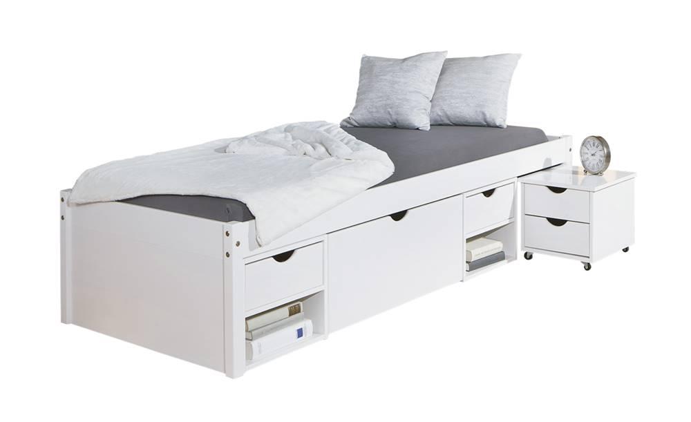 Sconto Posteľ SCALLA biela, 90x200 cm