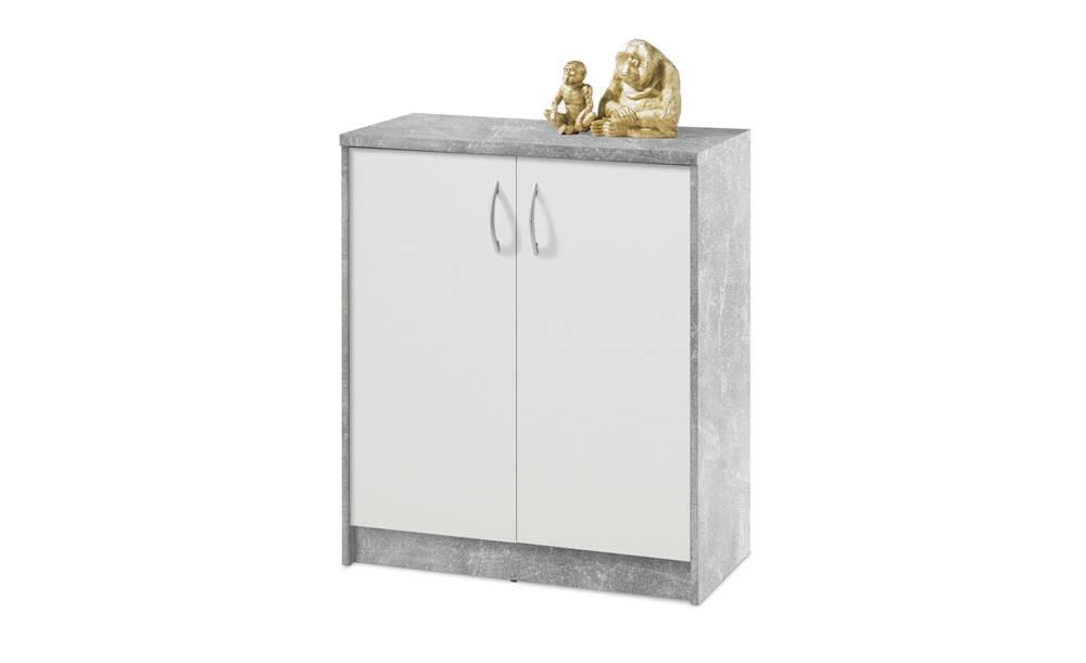 Sconto Komoda OPTIMUS 38-001 beton/biela