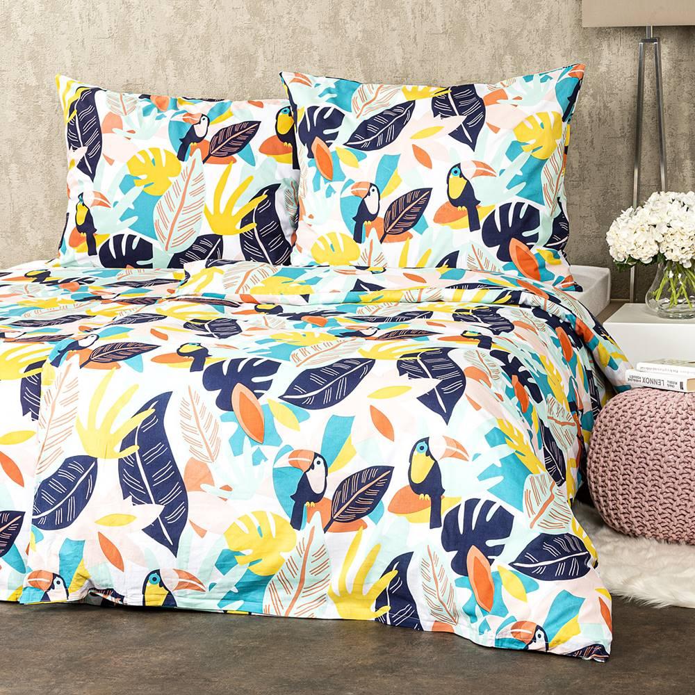 4Home 4Home bavlnené obliečky Tukan, 160 x 200 cm, 70 x 80 cm